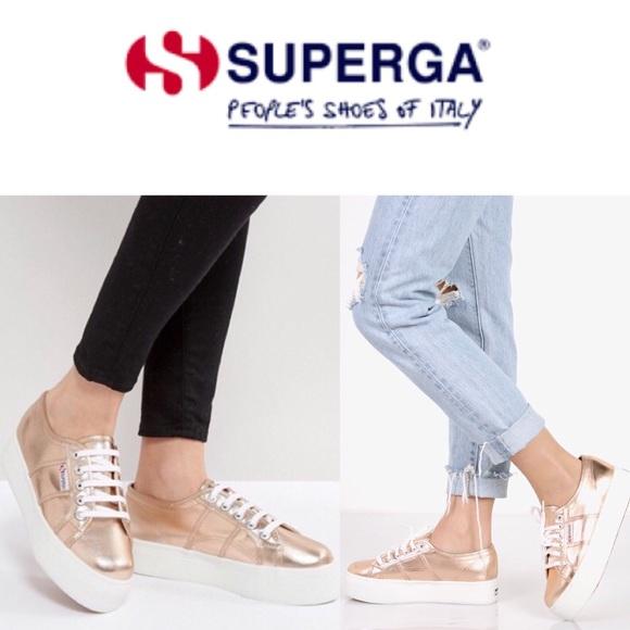 Superga Shoes | 2790 Metallic Platform